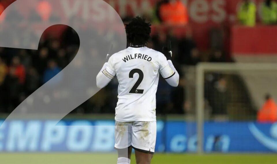 Wilfried Bony speelde na zijn terugkeer bij Swansea City met nummer 2