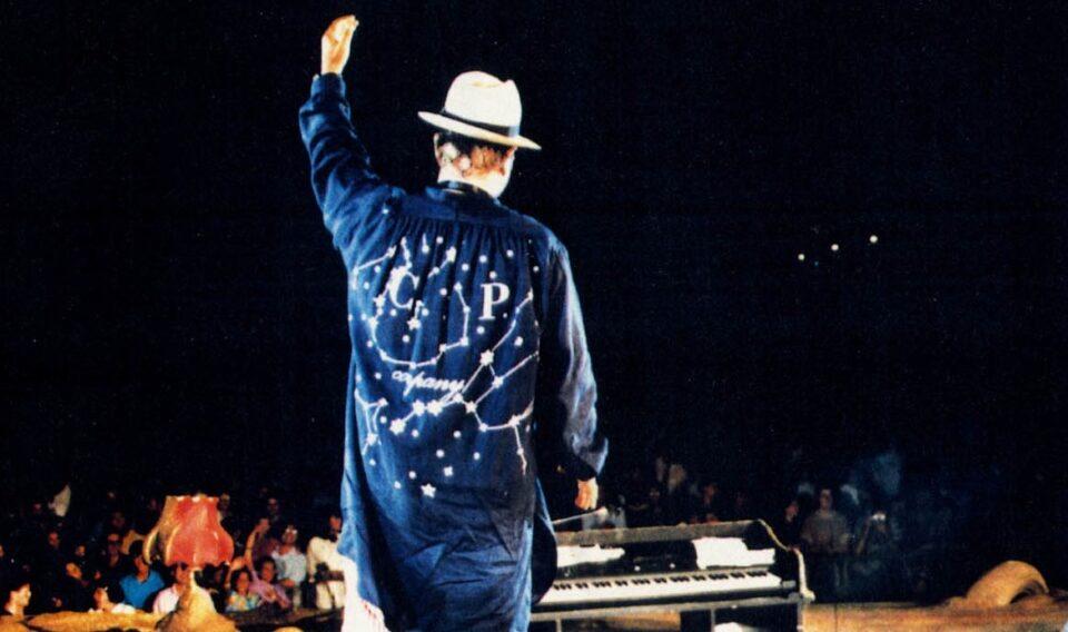 Lucio Dalla tijdens een optreden