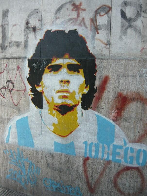 Maradona een legende die blijft voort leven