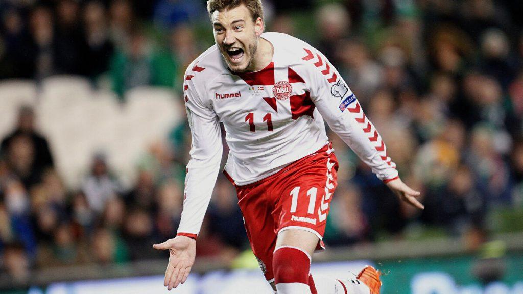 Deens international Bendtner na zijn doelpunt