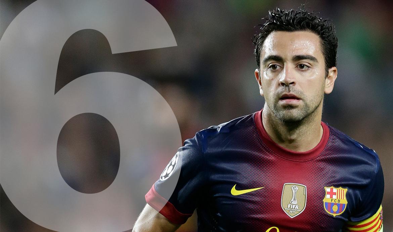 Rugnummer 6: Xavi