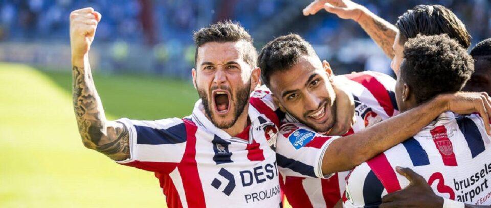 Vreugde bij Willem II na het doelpunt