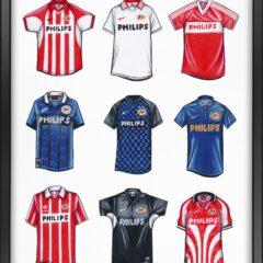Art of Football shirts Ajax, Feyenoord en PSV