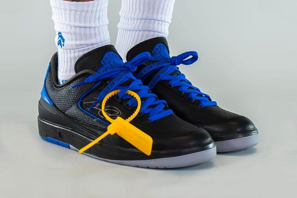 Off-White x Air Jordan 2 Low 'Black/Blue'
